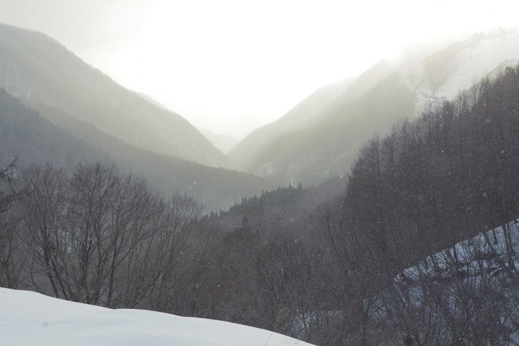 片品村の雪景色